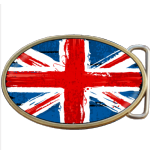 British Grunge Flag Belt Buckle. Code A0019